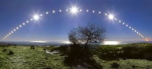 path of the winter sun